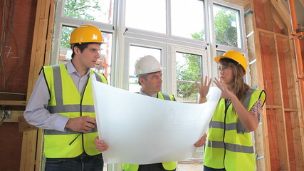 Architects discussing the construction