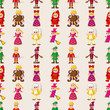 seamless story people pattern
