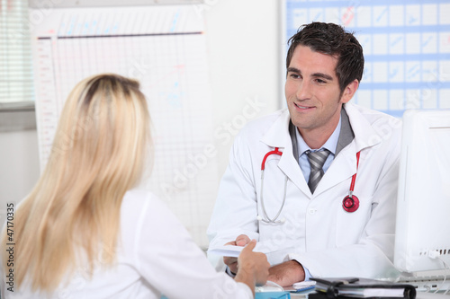Woman in doctor's appointment
