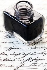 Inkwell on an Old Letter