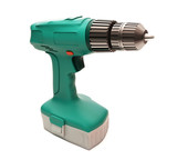 Electric screwdriver isolated