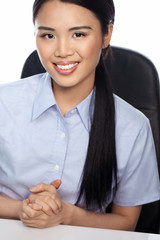 Smiling Asian businesswoman