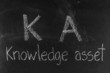 KA concept written on blackboard background high resolution