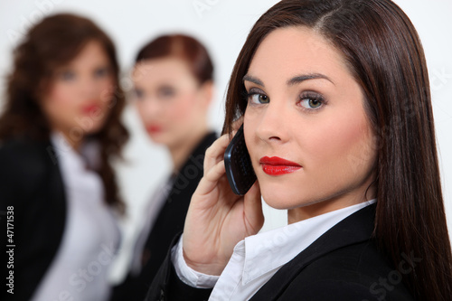 business woman at phone