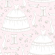 Wedding seamless pattern, hand drawing
