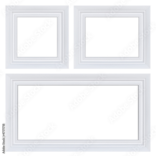 Classic set of white frames