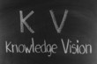 KV concept written on blackboard background high resolution