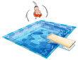 a boy and swimming pool