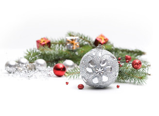 Christmas silver decoration