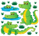 Image with crocodile theme 3