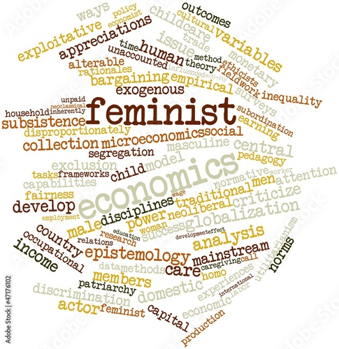 Word cloud for Feminist economics