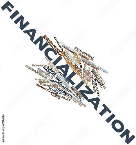 Word cloud for Financialization