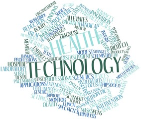 Word cloud for Health technology