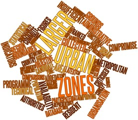 Word cloud for Larger Urban Zones