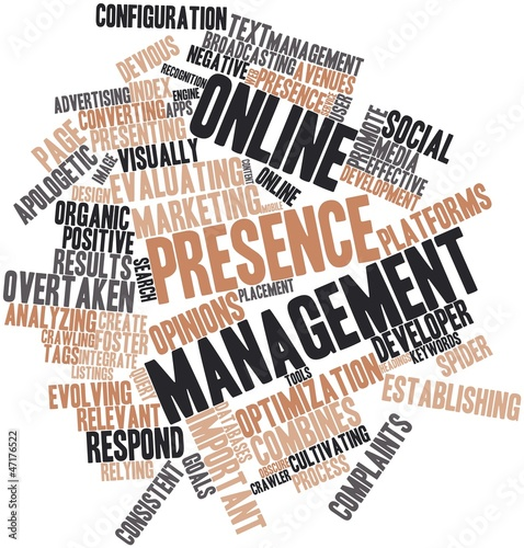 Word cloud for Online presence management