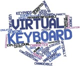 Word cloud for Virtual keyboard