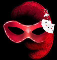 carnival mask of hazard
