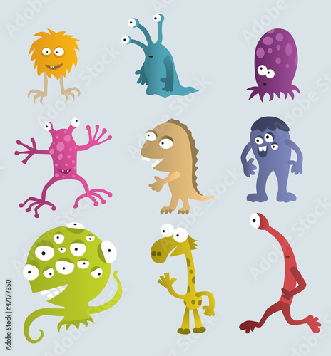 Spoed canvasdoek 2cm dik Schepselen Funny Creatures from another Planets