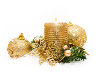 Goldern christmas decoration