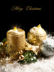 Black and gold christmas decoration