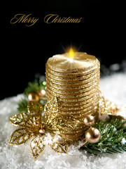 elegant black an gold Christmas background