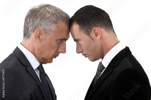 Tension between two businessmen
