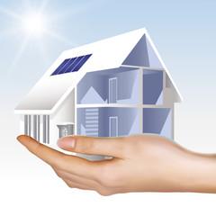 Haus_Photovoltaik mit Wärmepumpe