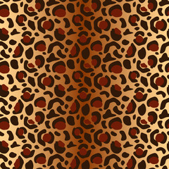 Vector seamless leopard pattern