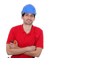 Man holding tape measure