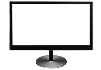 black isolated computer monitor