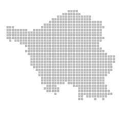 Pixelkarte - Bundesland Saarland