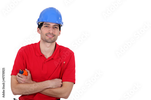 Man holding tape measure
