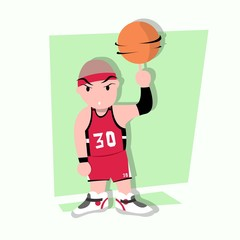 basketball boy with freestyle