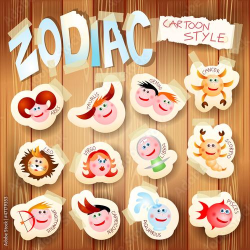 Zodiac in cartoon style