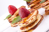 pancakes with strawberry