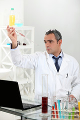 Scientist conducting an experiment