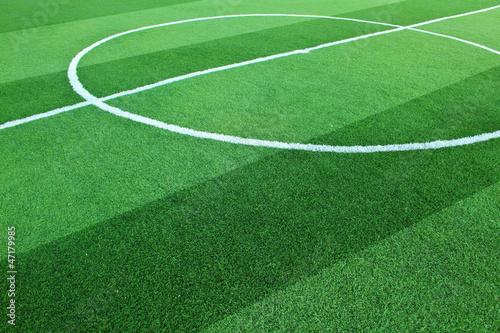 Artificial grass soccer field - 47179985