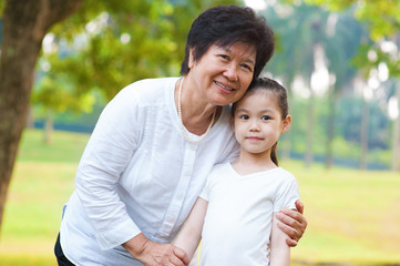 Asian grandparent and grandchild