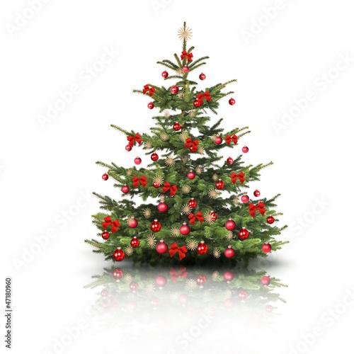 weihnachtsbaum mit roten schleifen stockfotos und. Black Bedroom Furniture Sets. Home Design Ideas