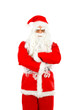 Isolated Santa Claus on white background
