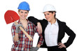 Female builder and architect