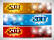 2013 New Year website headers or banners. EPS 10.