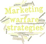 Word cloud for Marketing warfare strategies