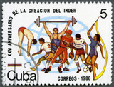 CUBA - 1986: devoted National Sports Institute (INDER)
