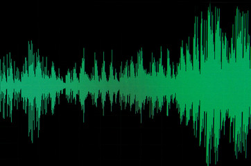 Green sound waveform