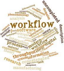 Word cloud for Workflow