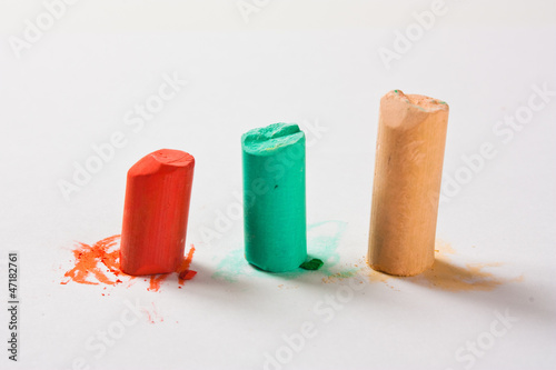 Coloured pastel crayons