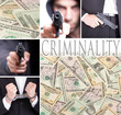 Criminality, series of six images