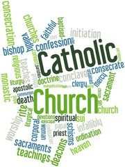 Word cloud for Catholic Church