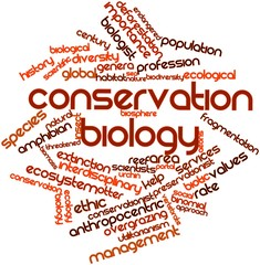 Word cloud for Conservation biology
